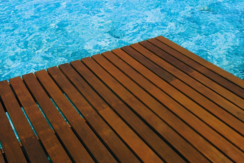 Antislip applied to pool decking