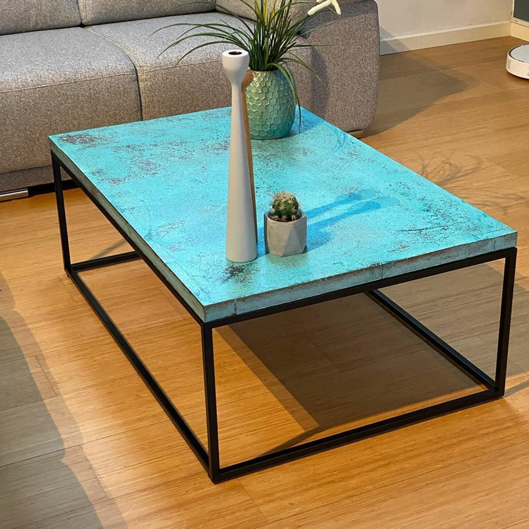 Bronze Spirit applied to coffee table by GK Designs