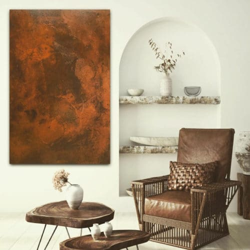 Rust Spirit applied to wall art by GK Designs