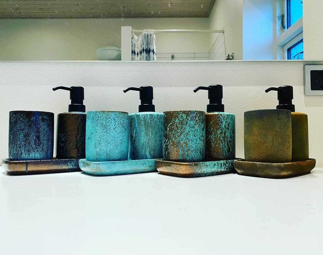 Spirit Range on soap dispensers by GK Designs