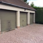 Before application of Polytrol on triple garages