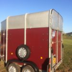 After application on Polytrol on red horse box