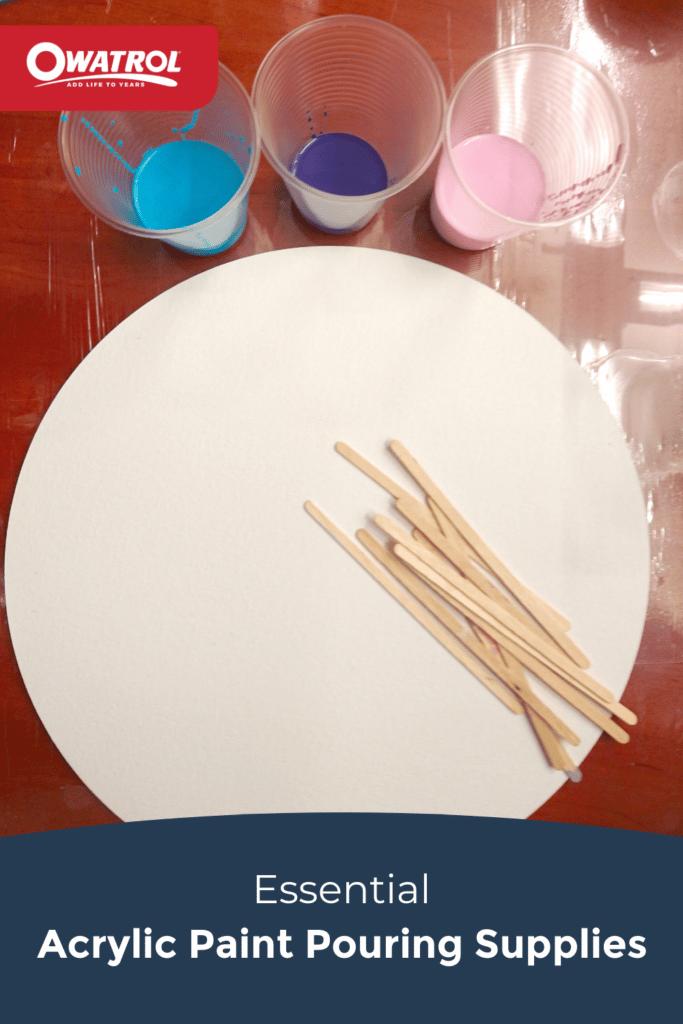 Essential acrylic paint pouring supplies - Pinterest