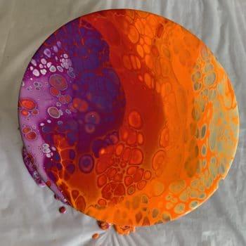 Flipcup paint pour by Artist Miranda
