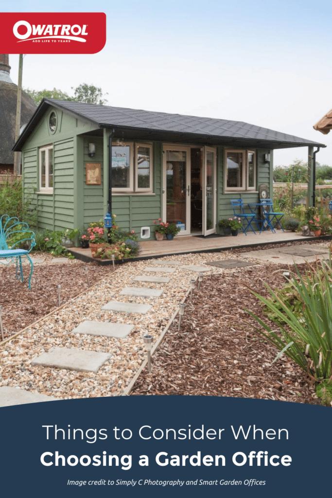 things to consider when choosing a garden office - Pinterest