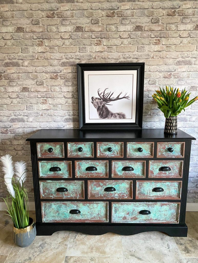 Gemma Stone chest of drawers after