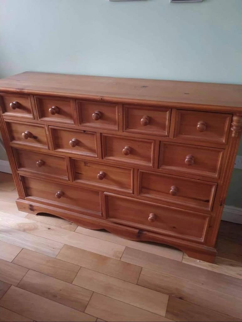 Gemma Stone chest of drawers before
