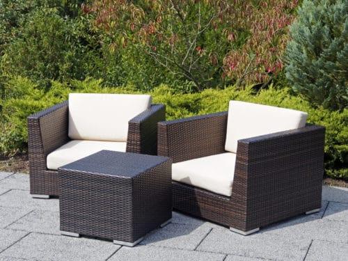 Rattan furniture on patio