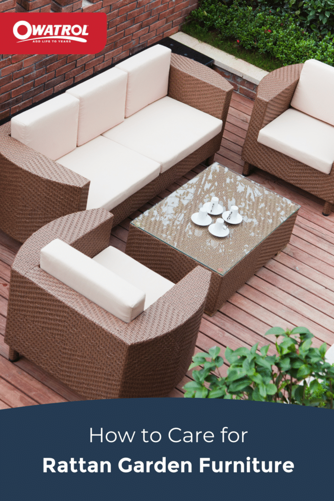 How to care for rattan garden furniture - Pinterest