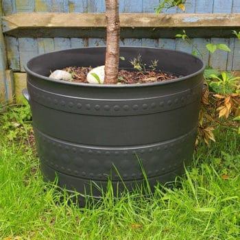 plastic plant pot after Polytrol