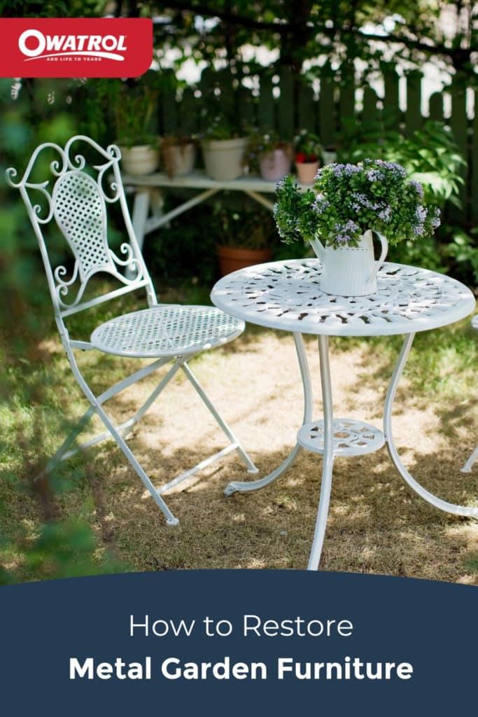 how to restore metal garden furniture - Pinterest