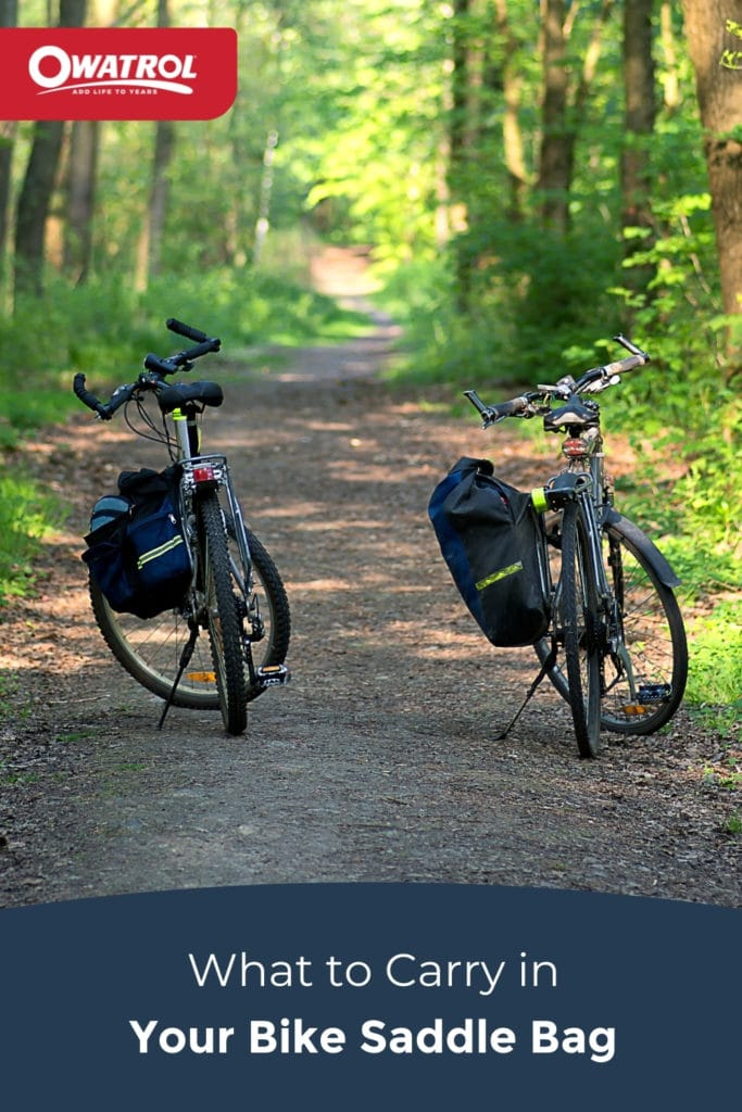 what to carry in your bike saddle bag - Pinterest