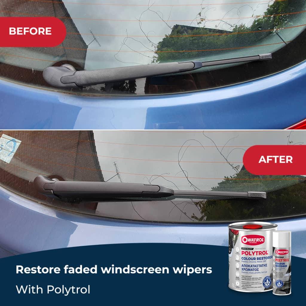 Restore windscreen wipers with Polytrol