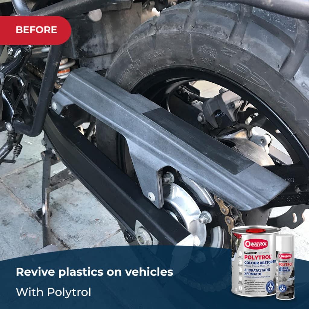 before polytrol on vehicles